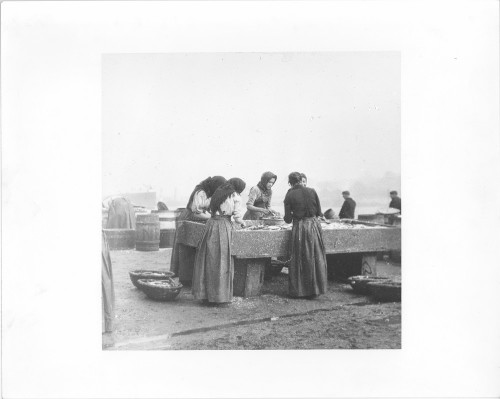 Herring girls on the quayside