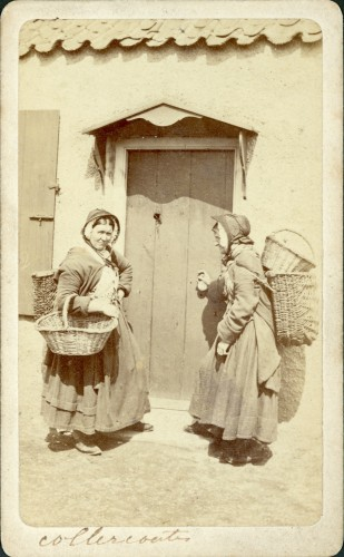 Cullercoats fishwives going door-to-door, c. 1880-1900