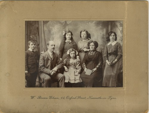 Family portrait of a middle class family, c. 1910-1914