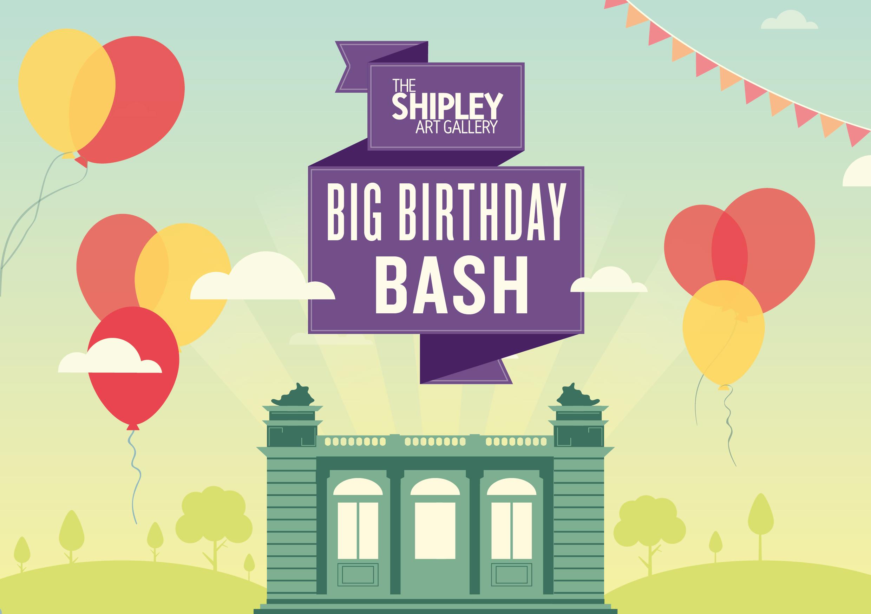 Shipley Art Gallery's Big Birthday Bash graphic