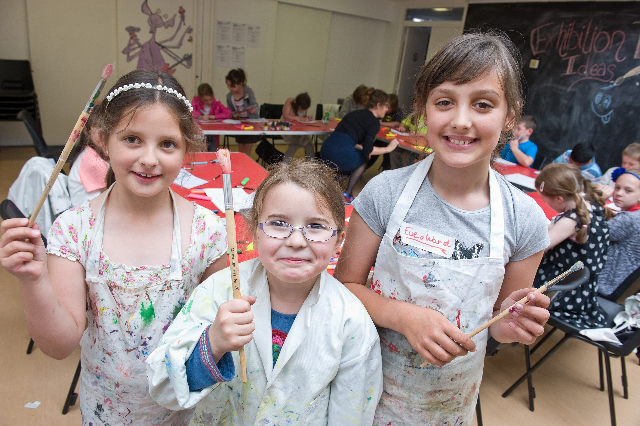 Children enjoying art academy at the Laing Art Gallery
