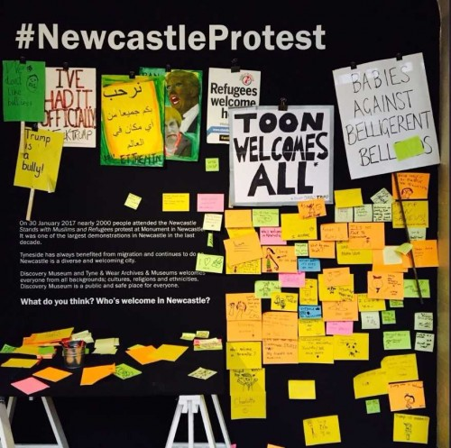 Newcastle Protest installation, Discovery Museum
