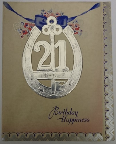 Another 21st birthday card from the museum collections