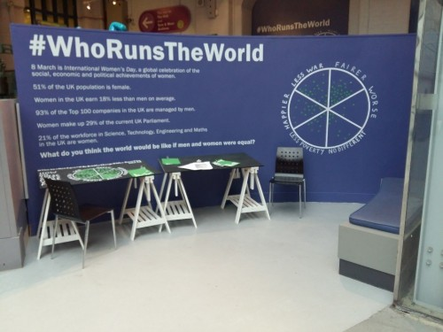 Who Runs The World intervention wall