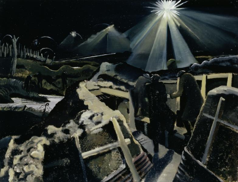 'Ypres Salient at Night' b Paul Nash, 1918.© IWM (Art.IWM ART 1145) http://www.iwm.org.uk/collections/item/object/20069
