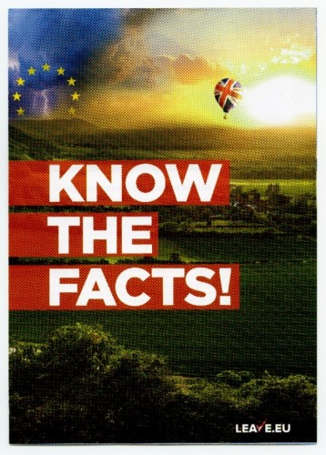 Leaflet from 'Leave.Eu' campaign