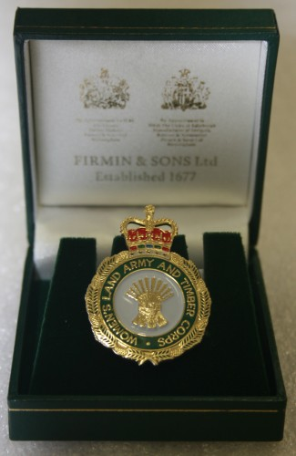 The badge awarded to Frances Blackburn