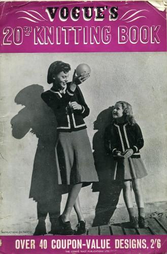 Vogue knitting pattern book, 1945