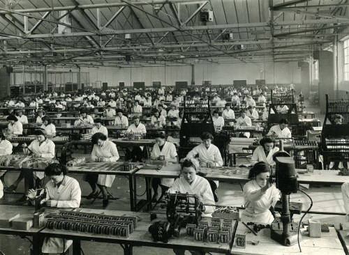 Factory floor, Wright & Weire, South Shields 1947