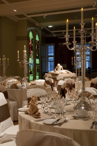 Table settings at the Laing Art Gallery