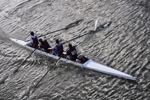 A modern bowloading coxed four