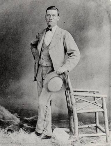 Photograph of James Taylor 1871 – James was a younger brother of the boatbuilder Matthew Taylor. His usual rowing weight was around 10 stone 7 pounds.