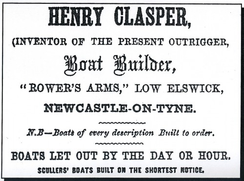 Advertisement from a Newcastle Trade Directory c 1861