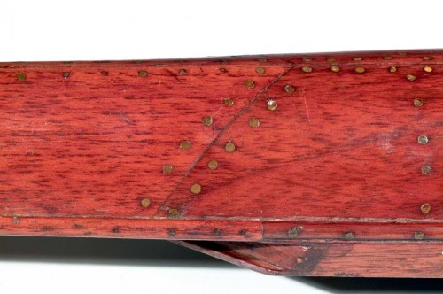 Smooth hull of a model of a racing four by Matthew Taylor, Newcastle 1855. TWCMS : 1999.215
