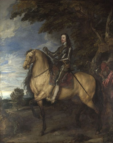 The Equestrian Portrait of Charles 1 by Anthony Van Dyck