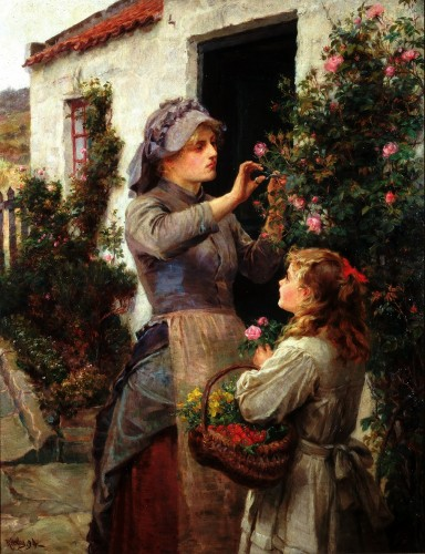 'Roses for the Invalid' by Ralph Hedley, Laing Art Gallery